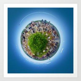 Planète MTL Art Print