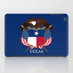 Texas flag and eagle crest - original concept and design by BruceStanfieldArtist iPad Case
