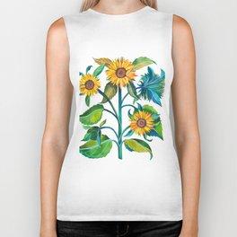 Sunflowers Biker Tank