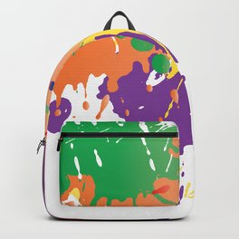 Colourful Paint splash Backpack