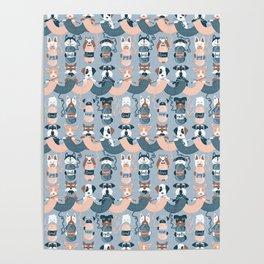 Knitting dog feelings I Poster