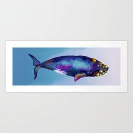 Bowhead Whale in the Blue Art Print