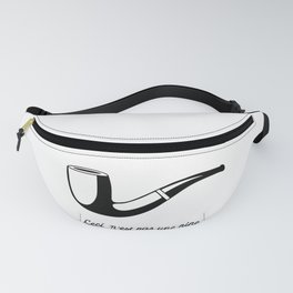 This Is Not A Pipe, Ceci n'est pas une pipe, Magritte Inspired T Shirt, Sketch, online T-shirt S Fanny Pack