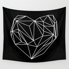 Heart Graphic (Black) Wall Tapestry