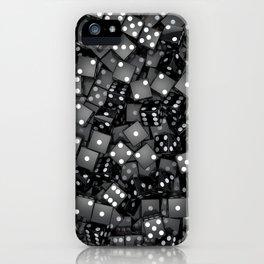 Black dice iPhone Case