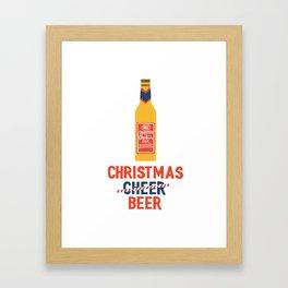 CHRISTMAS BEER Framed Art Print