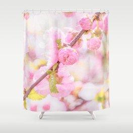 Pink sakura flowers - Japanese cherry blossom Shower Curtain