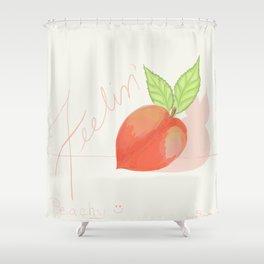 Feeling peachy Shower Curtain