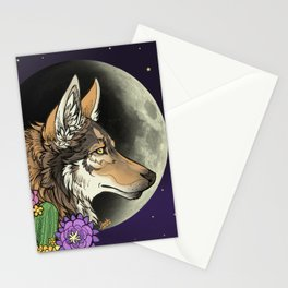 coyote night Stationery Cards