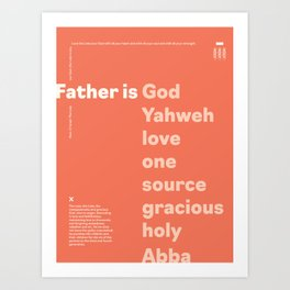 Trinity Poster Series: Father (1 of 3) [Color] Art Print