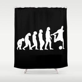 Football Evolution Shower Curtain