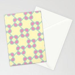 Flower Lattice Pattern Stationery Cards