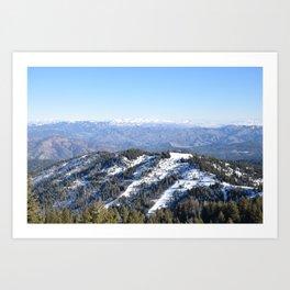 Snowy Boise Mountains Art Print