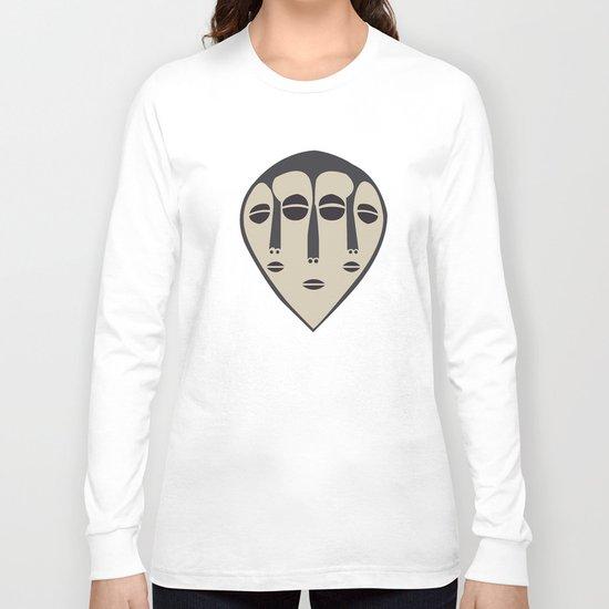 African Tribal Mask No. 5 Long Sleeve T-shirt