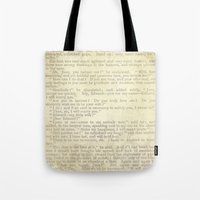 jane eyre Tote Bags featuring Jane Eyre, Mr. Rochester Proposal by Charlotte Bronte by ForgottenCotton