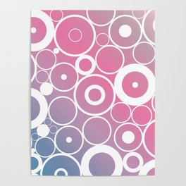 Retro circles with a modern twist Poster