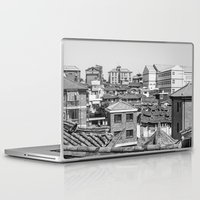 seoul Laptop & iPad Skins featuring Seoul Rooftops by Jennifer Stinson
