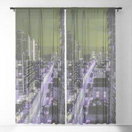 Miami Vice Sheer Curtain