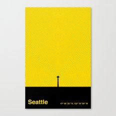 Seattle (47° 36′ 35″ N, 122° 19′ 59″ W) Canvas Print