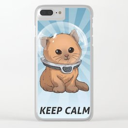 Keep Calm Kitty Clear iPhone Case