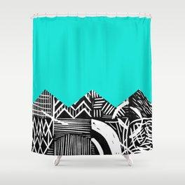 Sky lino bright Shower Curtain