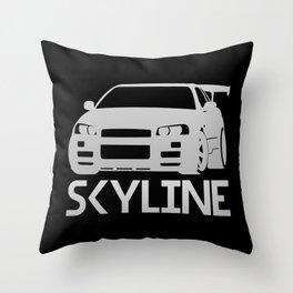 Nissan Skyline GT-R - silver - Throw Pillow