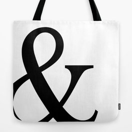 Typography, Ampersand, And Sign Tote Bag