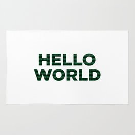 Hello World Rug