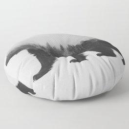 Brown Bear (black & white version) Floor Pillow