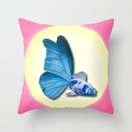 THE BUTTERFLY FISH - Barbara Throw Pillow