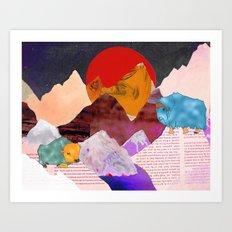 Yak Mountain Art Print