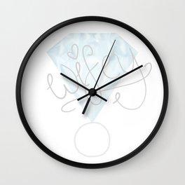 """Wifey"" Diamond Ring Wall Clock"