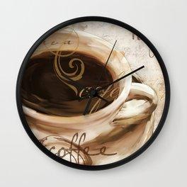 Le Cafe I Wall Clock