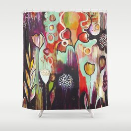 """Release Become"" Original Painting by Flora Bowley Shower Curtain"