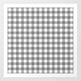 Plaid (gray/white) Art Print