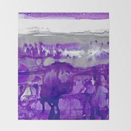 Winter in Purple and Silver Throw Blanket