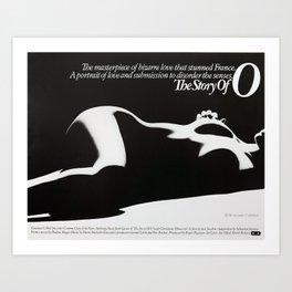 Vintage Film Poster - Story of O (1975) Art Print
