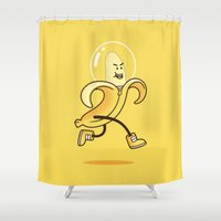 banana Shower Curtains featuring Banana by Alby Letoy