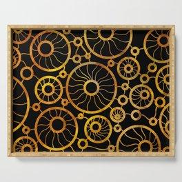 Sunflower Field Pattern Serving Tray