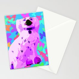 China Dog Green Vintage Stationery Cards