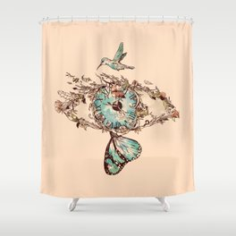 Watching the Passage of Time Shower Curtain