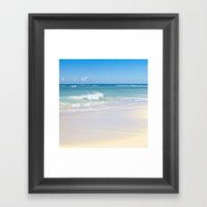 beach bliss Framed Art Print