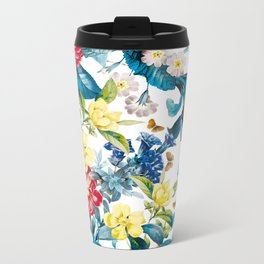 Spring-Summer Botanical Pattern Metal Travel Mug