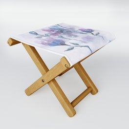 Watercolor Floral #2 Folding Stool