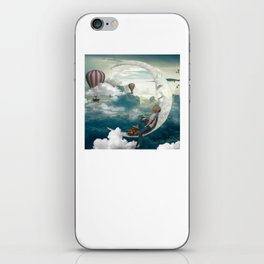 The boy and moon iPhone Skin