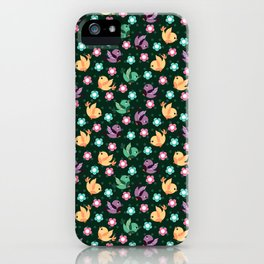 Freely Birds Flying - Fly Away Version 3 - Basil Green Color iPhone Case