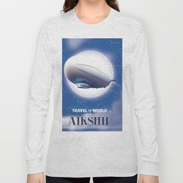 Travel the World - go by airship Long Sleeve T-shirt