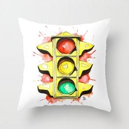 Stoplight Throw Pillow
