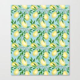 Lemon mood.1 Canvas Print