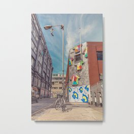 Shoreditch Graffiti - Ebor Street Metal Print